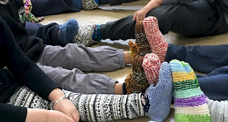 New knitted slippers kindly donated to us